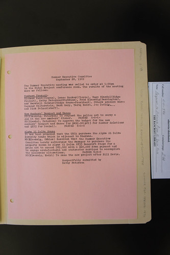 1969 USCA board minutes proposing purchase, naming of Davis House | by Anthro136k Who Owns the Past