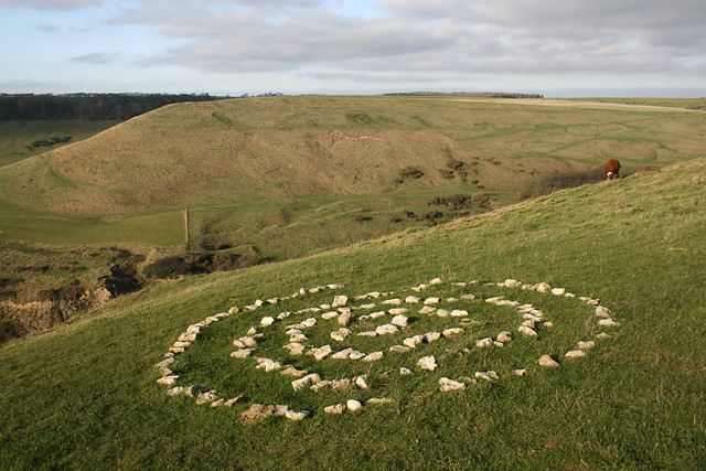Stone circle on St Aldhelm's head