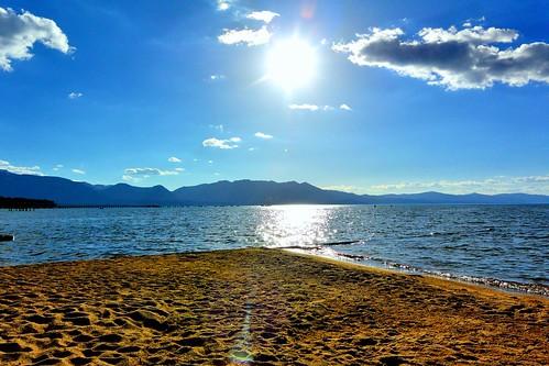 california sunset lake beach water clouds sand laketahoe alpine almostsunset sierranevada southlaketahoe inyonationalforest waterpictorial joelach
