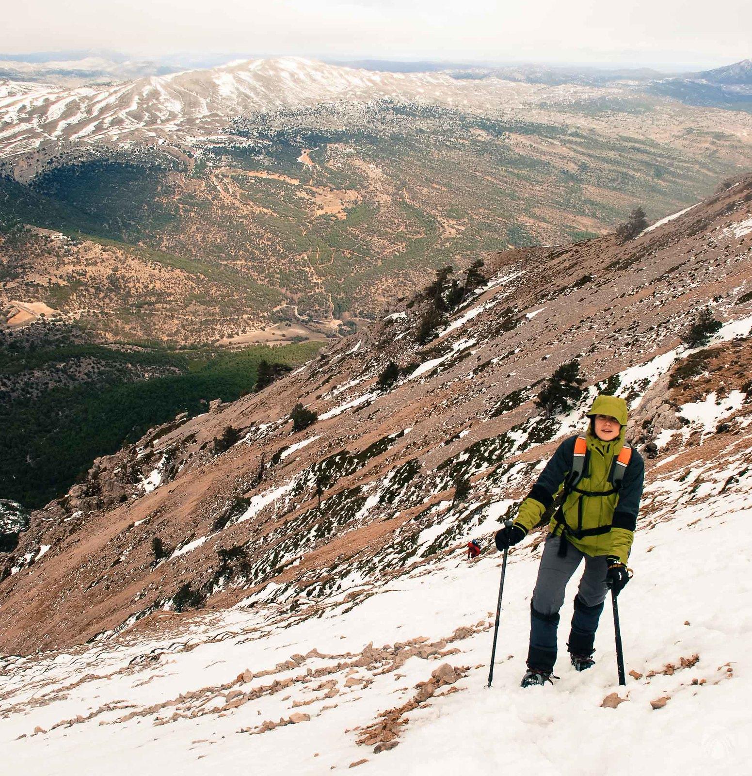 Llegando a la zona de cumbres
