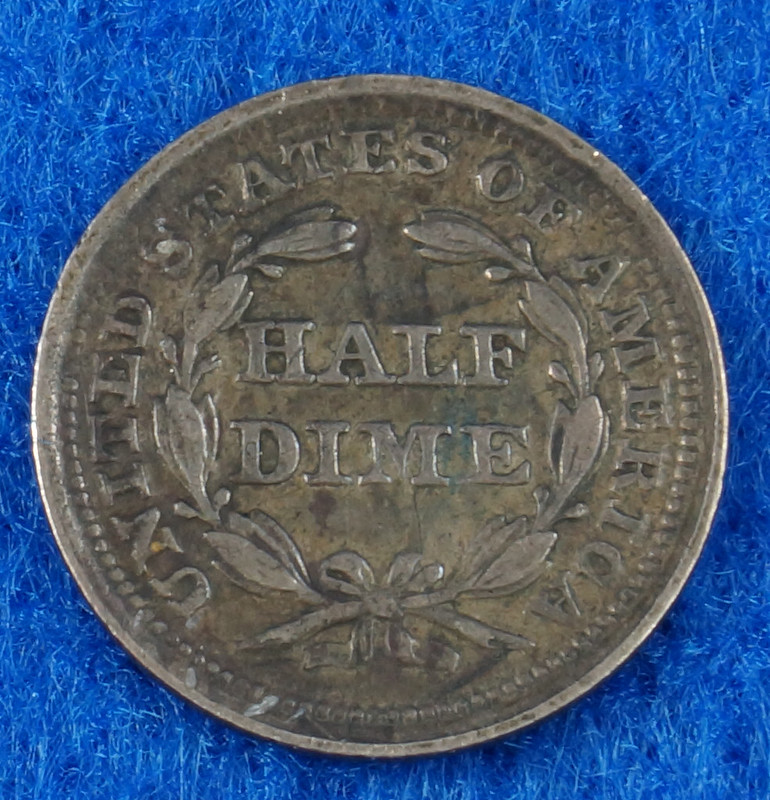 RD2435 1853 Seated Liberty Half Dime DSC05723