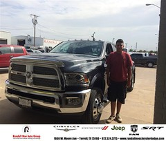 #HappyAnniversary to Abraham and your 2014 #Ram #3500 from Jordan Grimes at Randall Noe Chrysler Dodge Jeep RAM!