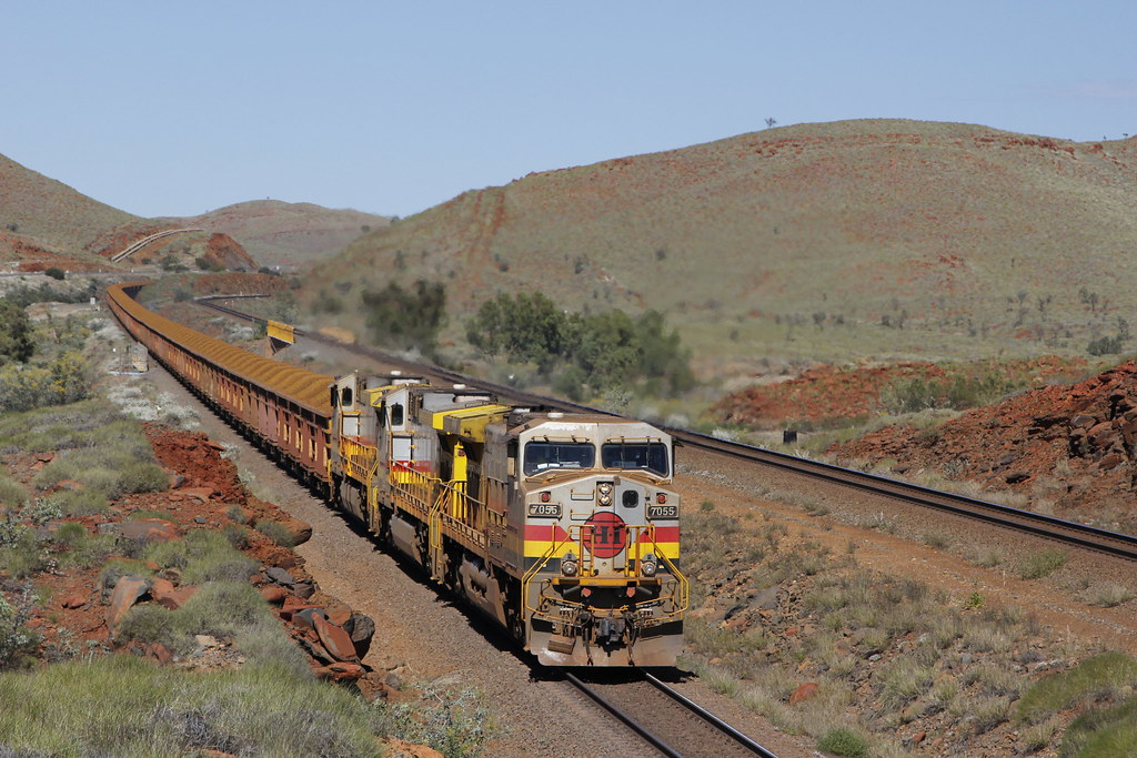 Pilbara Ore train by Steve Caines
