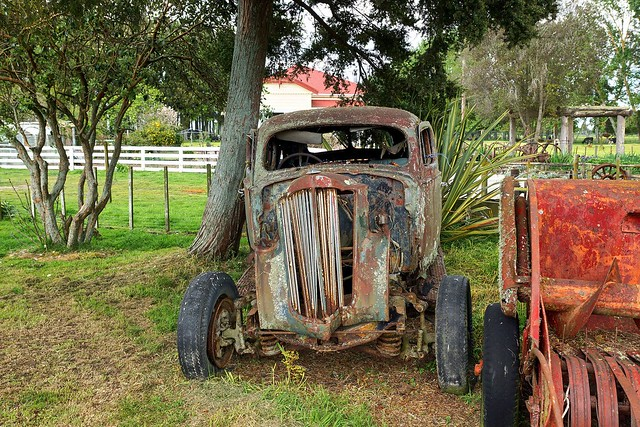 1938 Packard at rest.