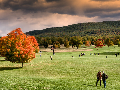 autumn light newyork storm art fall clouds contrast us king afternoon unitedstates outdoor center foliage newwindsor stormkingartcenter