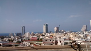 Today we drove north, stopping in Tel Aviv en route to Kadima. Amazing views from the top floor of the place we parked! | by lamech