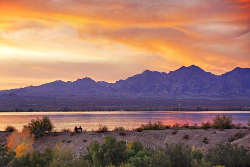 sunset arizona reflection water clouds canon az hdr lakehavasu 50d qtpfsgui luminancehdr