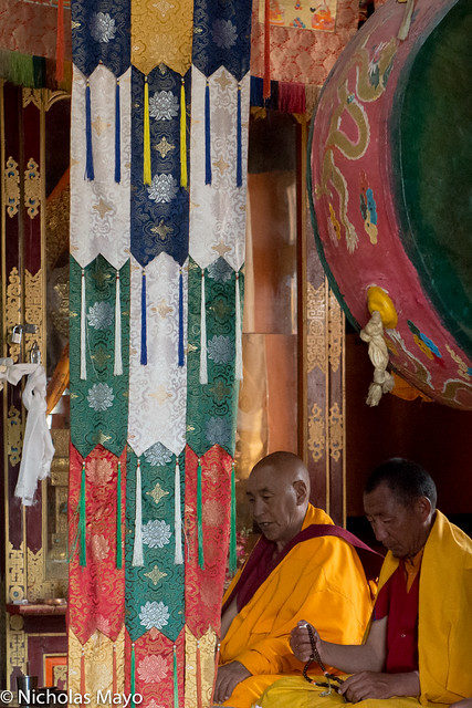 Two Monks In The Dukhang