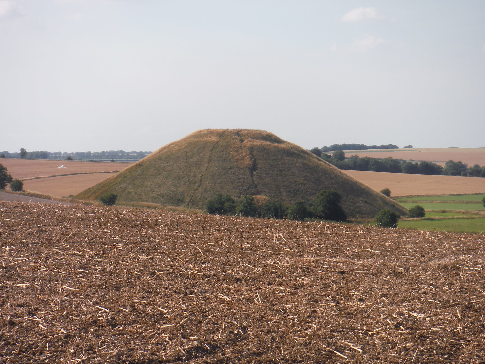 Silbury Hill from West Kennett Long Barrow SWC Walk 255 Pewsey or Marlborough Circular via Avebury