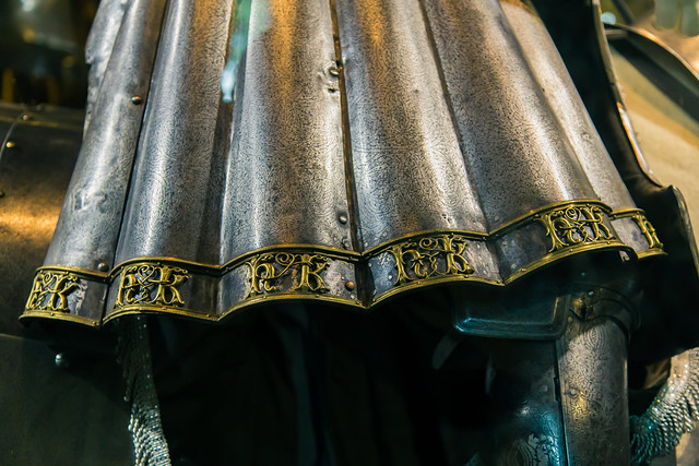 Mounted knight's harness, detail. 16th century