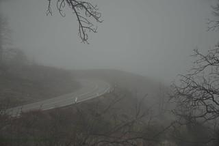 Beginning of a Snowstorm on Mt. Laguna