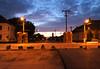 Sonnenaufgang 3 Tage vor den Festveranstaltungen. Die Festmeile ist für den Verkehr schon gesperrt.