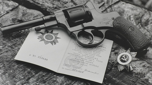Nagant Revolver with Order of the Patriotic War