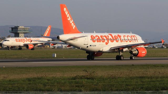 AIRBUS A319 111 EASYJET G-EZAB 2681 Bale Mulhouse 30 octobre 2015