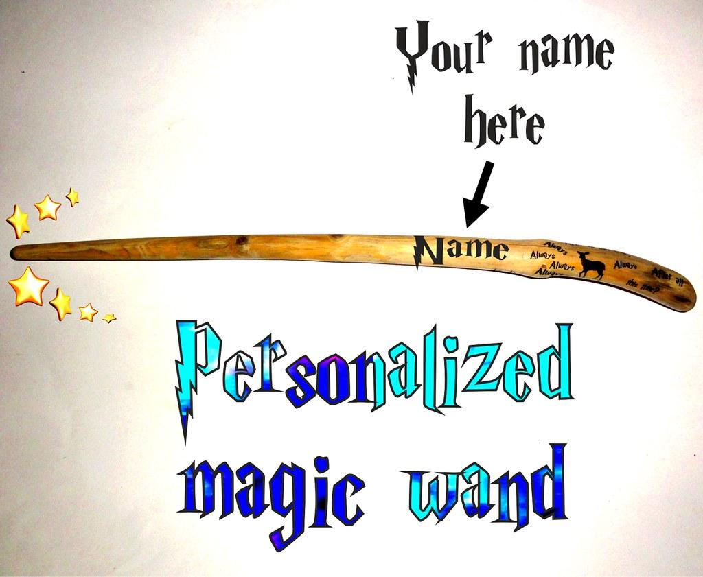 Custom name Magic wand  Personalized custom name magic wan