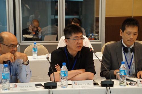 圖14新加坡代表Boon Jin Chew先生會中發言