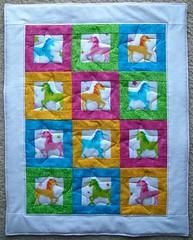 unicorn doll quilt