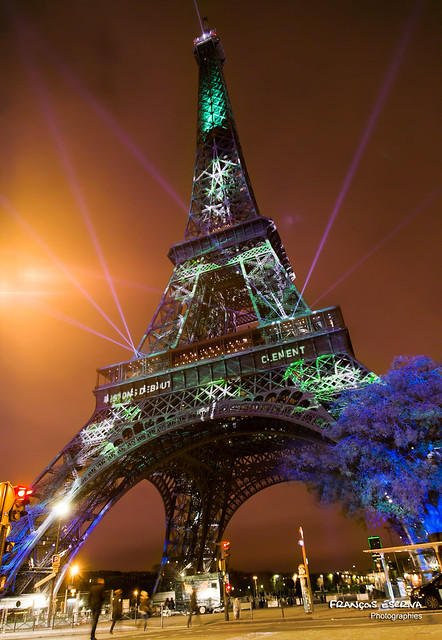 Eiffel Tower - Cop21 lightings