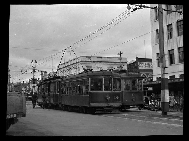 Tram 17 and 14 on the Corner of Ryrie Street and Moorabool Sts., Geelong, [n.d.]