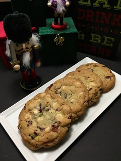 White Chocolate, Cranberry, and Pistachio Cookies | by The Culinary Chronicles