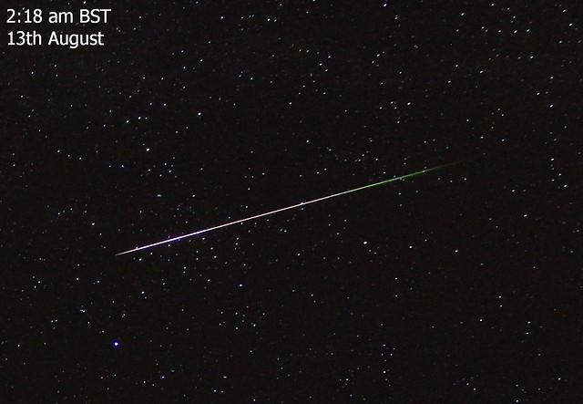 Perseid Meteor 02:18 BST 13/08/15