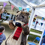 Hugless Douglas | Hugless Douglas came out to meet his fans at David Melling's Book Festival © Helen Jones