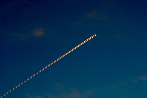 sunset abstract boston airplane contrail dusk massachusetts newengland minimal