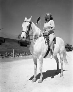 Betty North on a horse - Sarasota