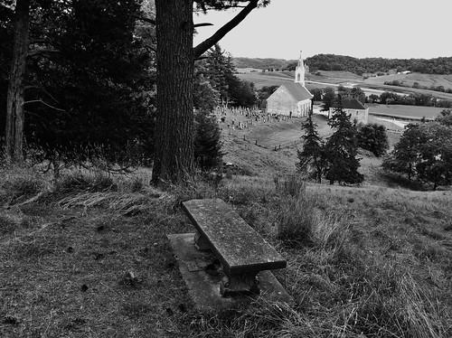 blackandwhite church monochrome bench catholic faith religion iowa historic hbm wayofthecross stdonatus pietachapel