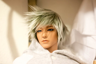 Chen Chei with his new wig | by Gift Colony