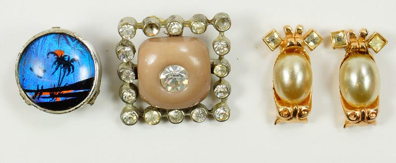 RD7036 Assorted Vintage Costume Jewelry Pieces - Unique DSC09327