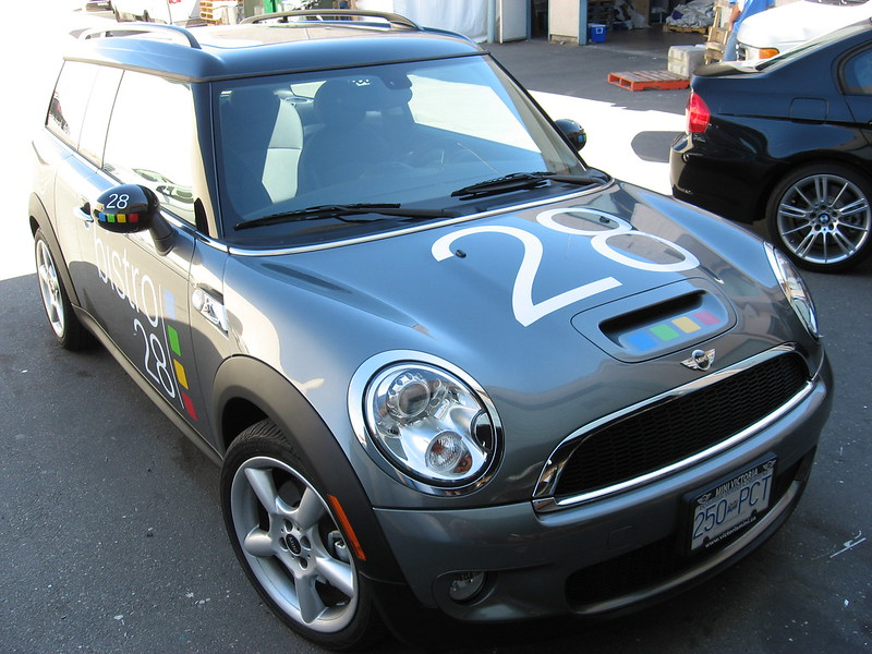 Bistro mini vehicle graphics