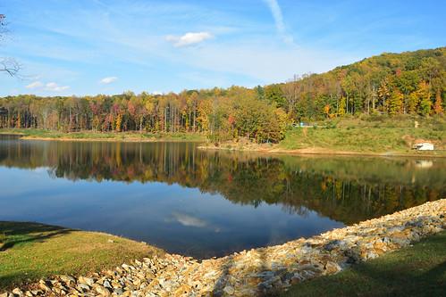 charlottesville reservoir autumn lake nikond5500 trees water virginia fall landscape