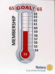 Our membership thermometer went up another notch to 59 thanks to our newest member Bob Keefer.