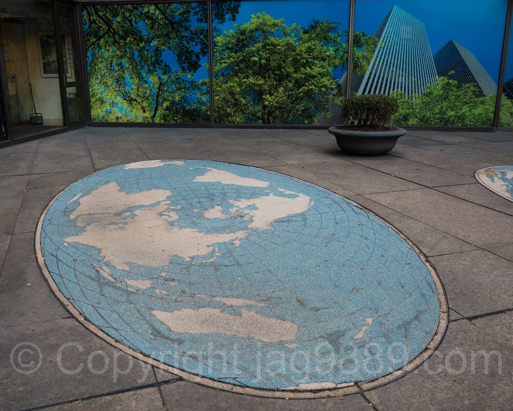 Map Of New York Rockefeller Center.Pops097 Mosaic Map Of The Earth 1221 Sixth Avenue Mcgr Flickr