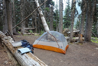 Campsite at Hopkins Lake | by danlmarmot