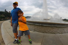 Gabriel and Alex at Point State Park, Pittsburgh PA