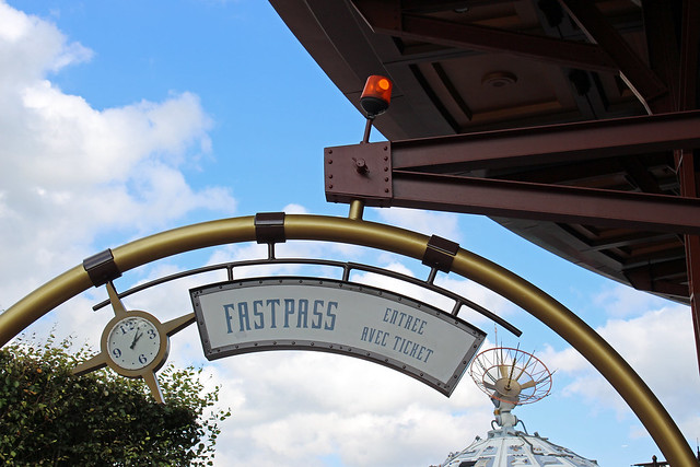 fastpass entrance to Space Mountain