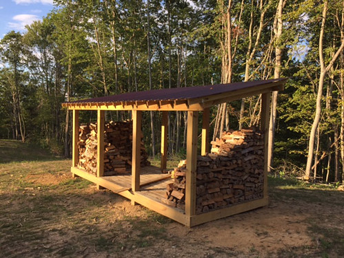 Finished firewood shed