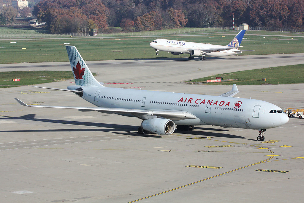 Airbus A330-343X Air Canada C-GHKR and Boeing 767-322ER Un
