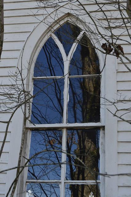 Church Window Reflection