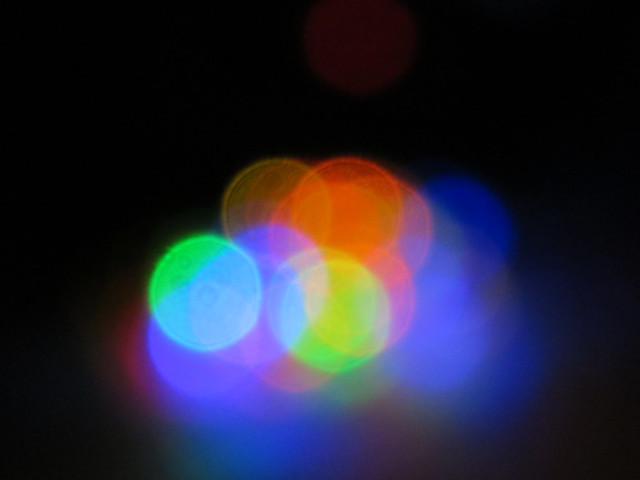 Airy Disk Diffraction and Multicolored Bokeh