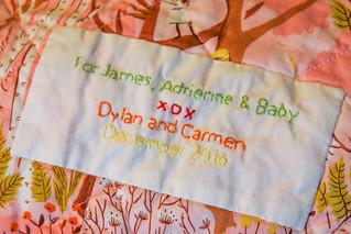 Sweet Scrappy Trip Around the World baby quilt
