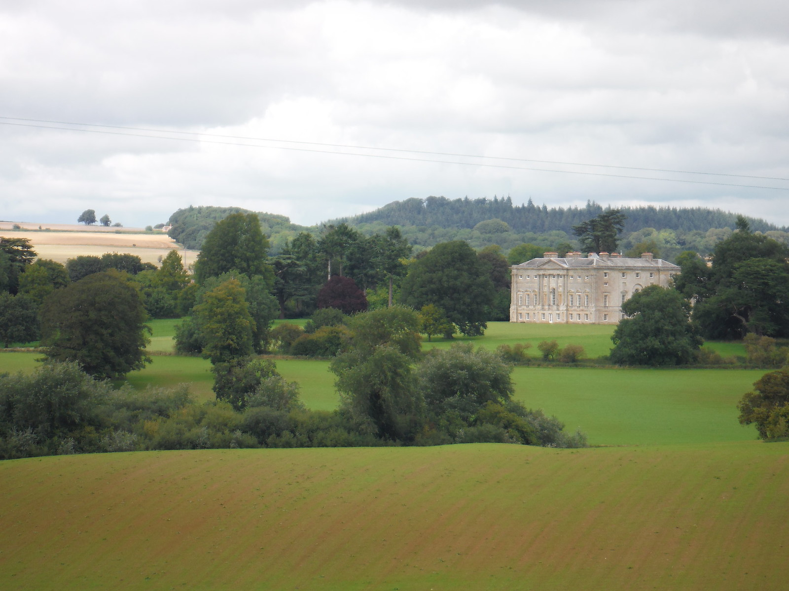 New Wardour Castle from across Wardour Park SWC Walk 251 Tisbury Circular via Ludwell and Berwick St. John