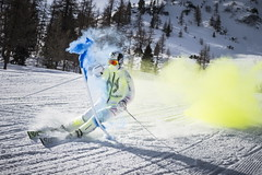 Marcel Hirscher performs during the project 'Marcel Hirscher Colours' at Reiteralm near Schladming, Austria on March 24th, 2015  // Philip Platzer/Red Bull Content Pool // P-20150402-00170 // Usage for editorial use only // Please go to www.redbullcontentpool.com for further information. //
