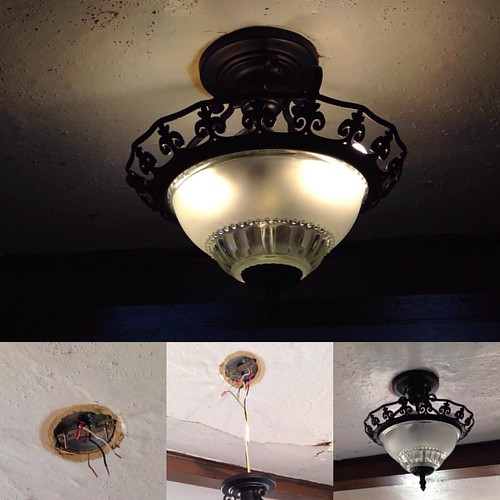 Replaced the old ceiling fan in the kitchen with a new light. | by programwitch