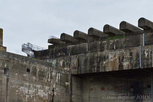 L'U-Bunker de Bordeaux - les structures pare-bombes