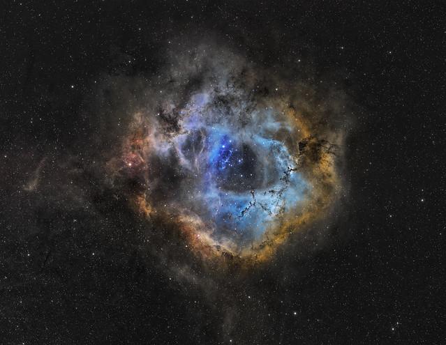 NGC 2237  Rosette nebula a cosmic cloud.