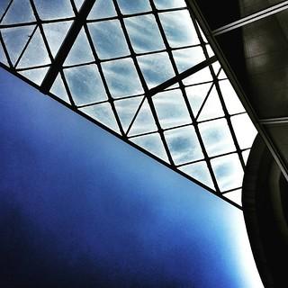 Glass and sky  #sky #blue #bluesky #modern #architecture #archilovers #city #urban #lookingup #minimalism #minimalmood #beautiful #igers #igersitalia #instalove #instagood #likesforfollow #glass #building   by Mario De Carli