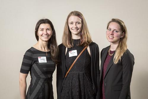 2016 Endowment Dinner (l to r): Yuliya Siamashka, Eowyn Lucas, Kate Mueller